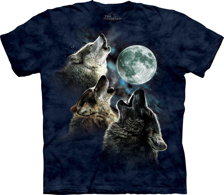 T-Shirt Three Wolf Moon Blue