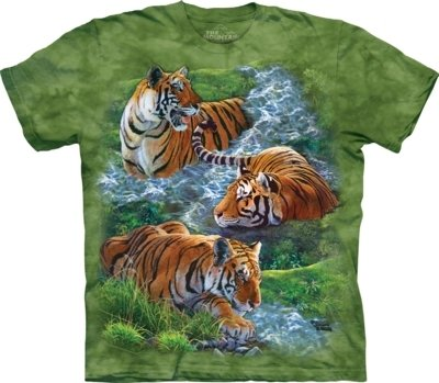 T-Shirt Water Tiger Collage Kids