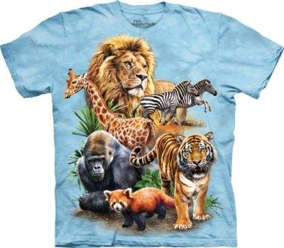 T-Shirt Zoo Collage Kids
