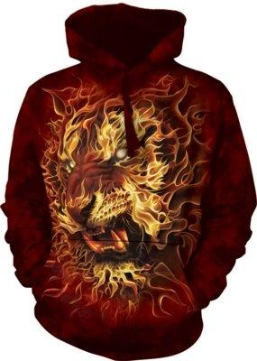 Hoodie Fire Tiger