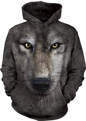 Hoodie Wolf Face
