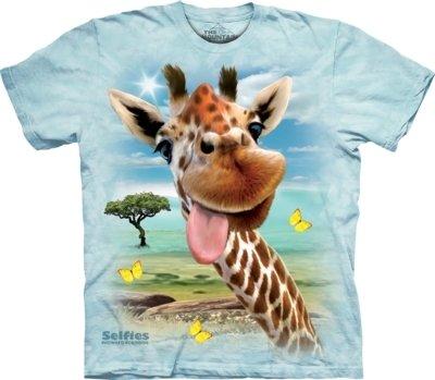 T-Shirt Giraffe Selfie Kids