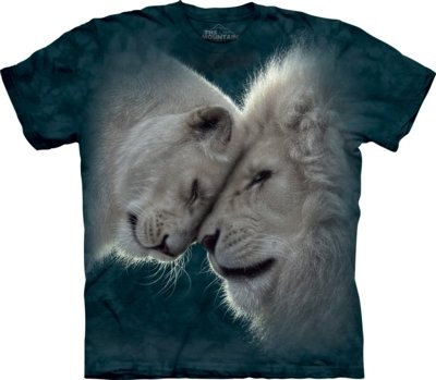 T-Shirt White Lions Love