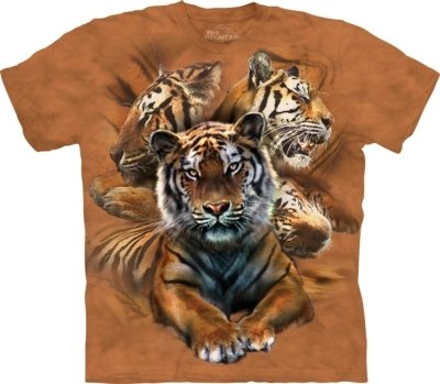 T-Shirt Resting Tiger Collage