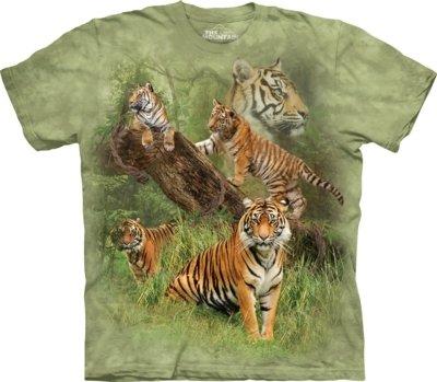 T-Shirt Wild Tiger Collage