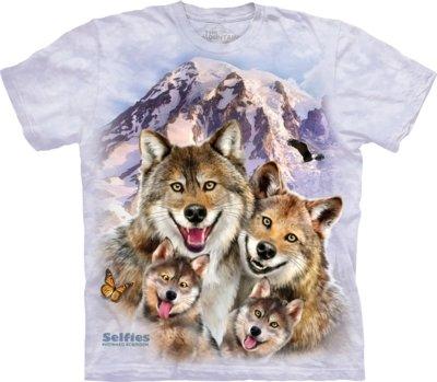 T-Shirt Wolf Selfie Kids