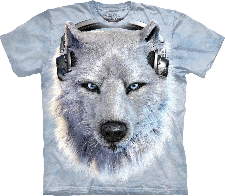 T-Shirt White Wolf DJ Kids
