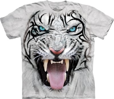 T-Shirt Tribal White Tiger
