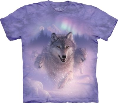 T-Shirt Northern Lights Wolves
