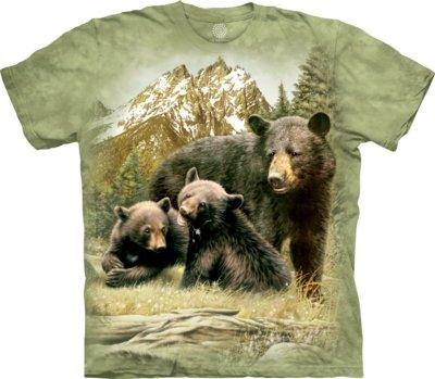T-Shirt Black Bear Family