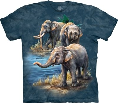 T-Shirt Asian Elephants