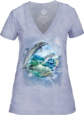 Dolphin Bubble V-neck