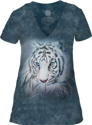 Thoughtful White Tiger V-neck