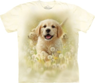 T-Shirt Golden Puppy Pet Kids