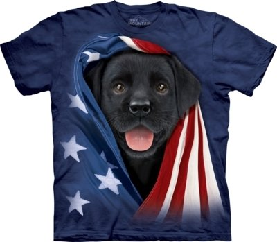 T-Shirt Patriotic Black Lab Kids