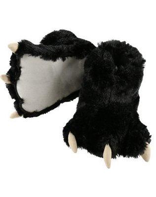 Black Bear Paw Slippers
