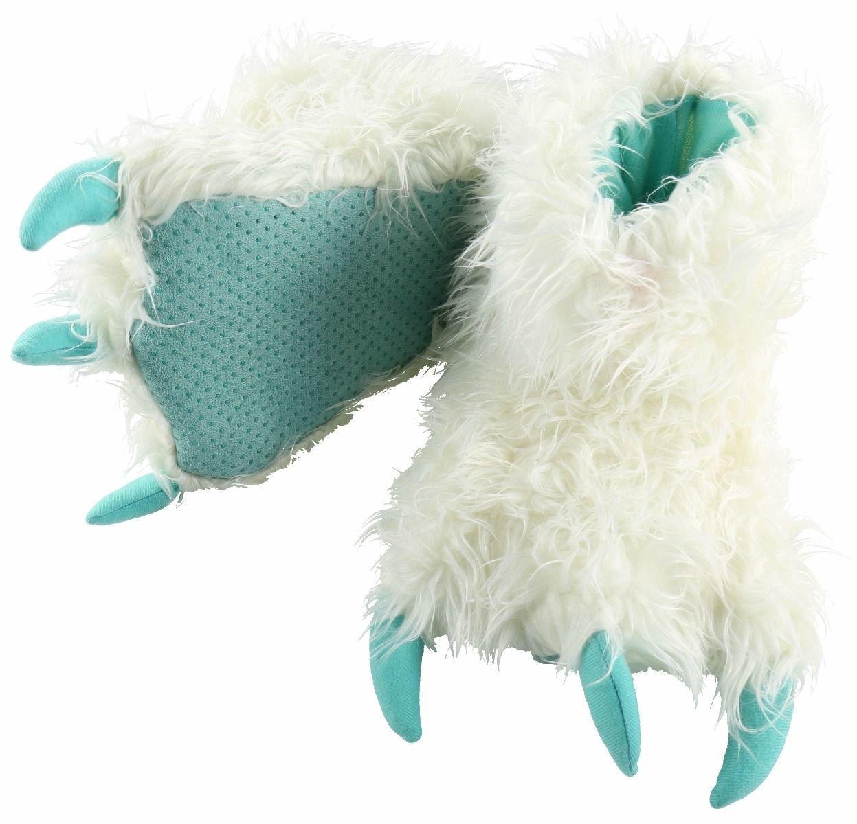White Yeti Paw Slippers
