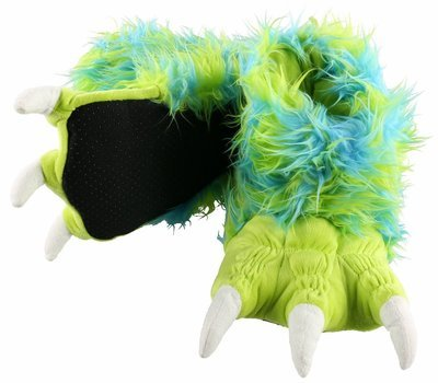 Green Monster Paw Slippers