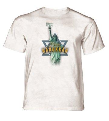 T-Shirt Lady Liberty Hanukkah
