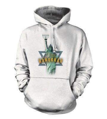 Hoodie Lady Liberty Hanukkah