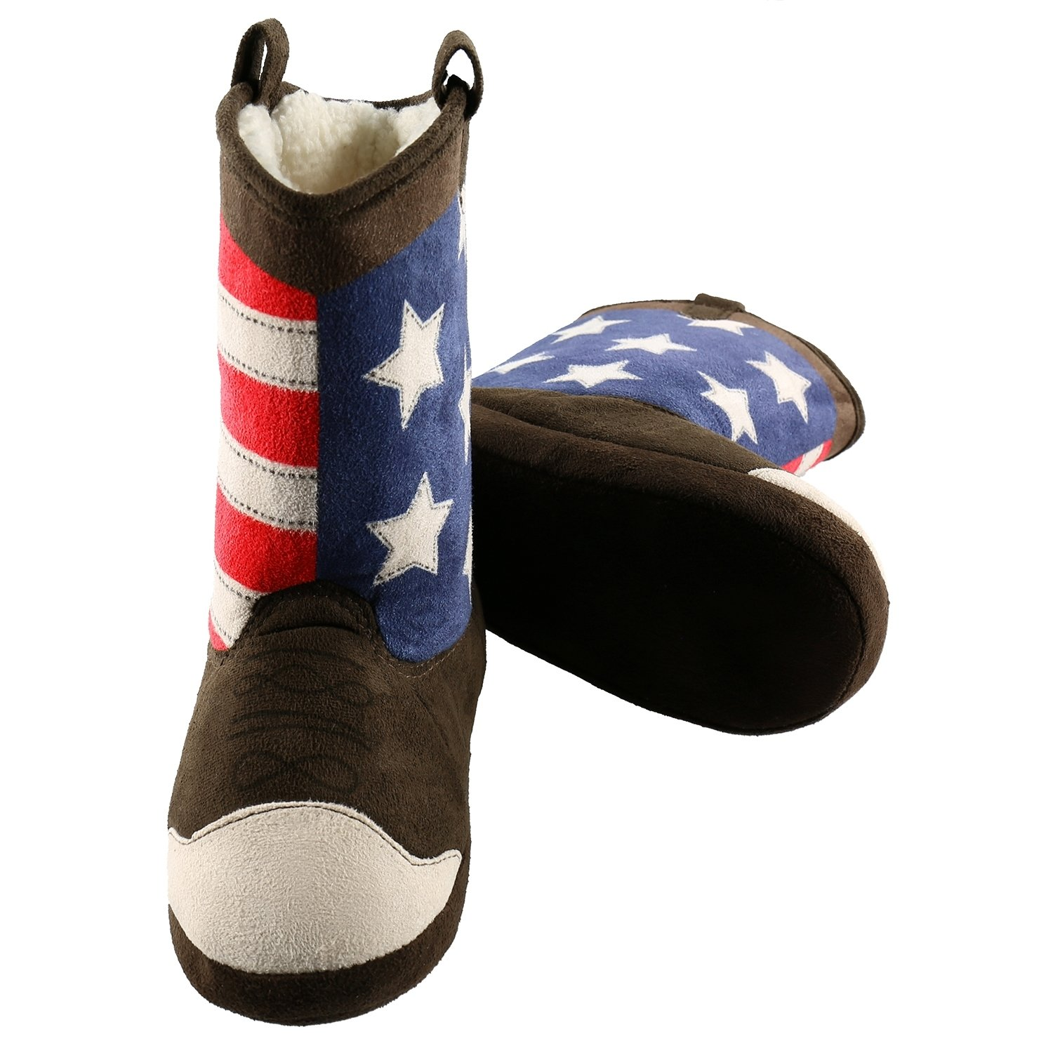 America Cowboy Bootie Slippers