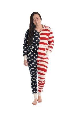 Stars & Stripes Hooded Onesie