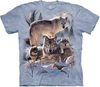 T-Shirt Wolf Family