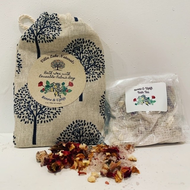 Bath Tea ~ Single with Reusable Tree of Life Cotton Bag ~ 2 oz net weight