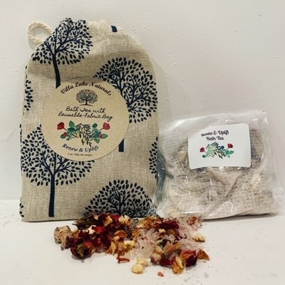 Bath Tea ~ Single with Reusable Tree of Life Cotton Bag ~ 2 oz net weight