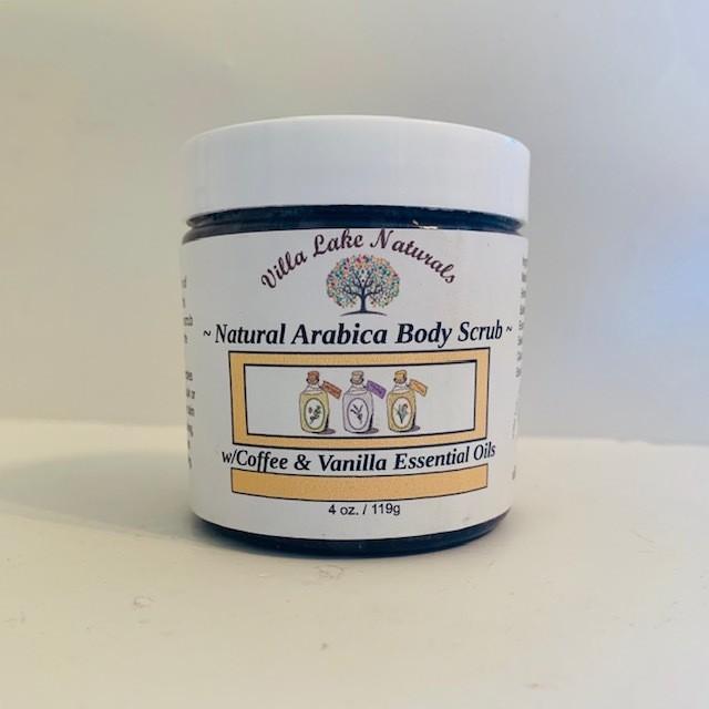 Bath - Scrub - Arabica Coffee Body Scrub - w/Coffee & Vanilla Essential Oils 4 oz.