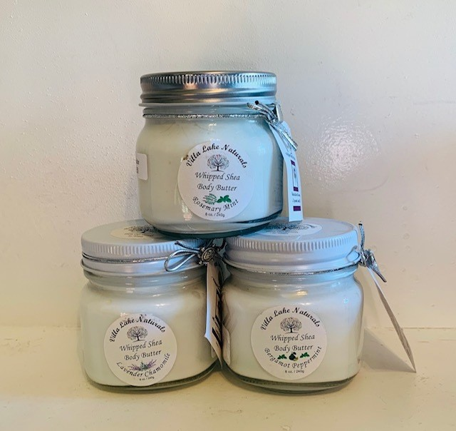 Body Butter ~ Whipped Shea Body Butter (Choose Essential Oil or EO Blend) - Glass Jar 8 oz.