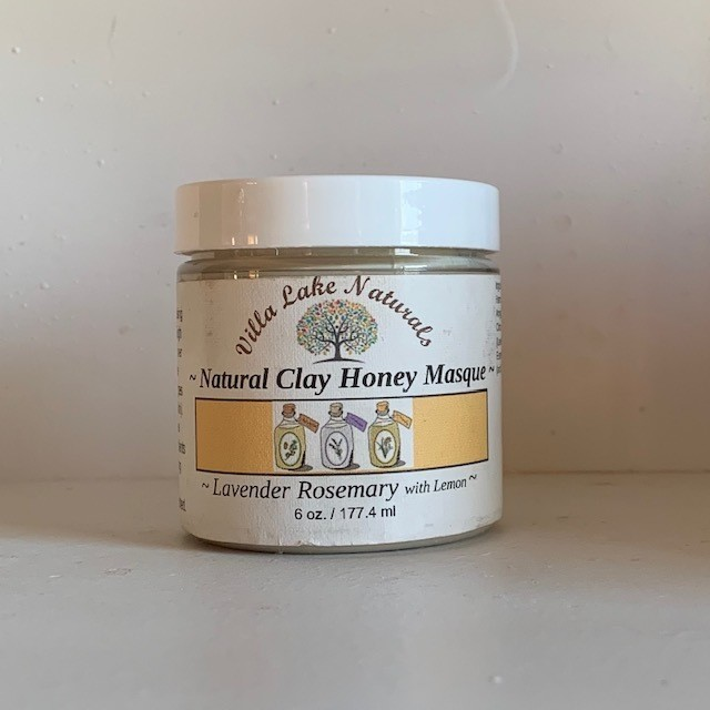 Facial Masque ~ Natural Clay Honey Masque ~ Lavender Rosemary with Lemon 6 oz.