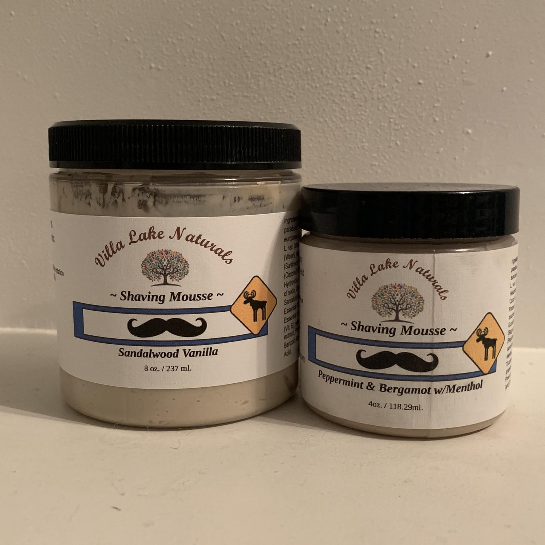 Men's Shoppe ~ Shaving Mousse ~ Choose Your Favorite Essential Oil Blend - 8 oz