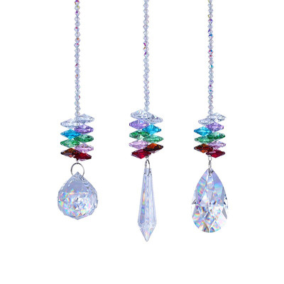 Chakra Crystal Prism Suncatcher - Set of 3