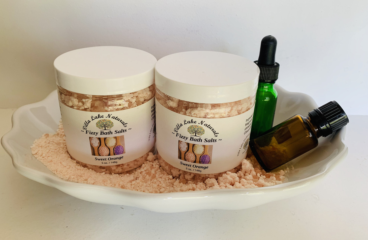 Bath Salts ~ Fizzy Bath Salts - Choose From a Variety of Essential Oils or Essential Oil Blends  8 oz.