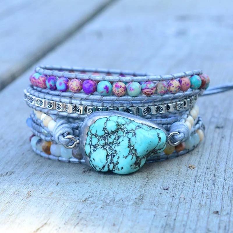 Jewelry/Bracelet ~ Turquoise Wrap Bracelet