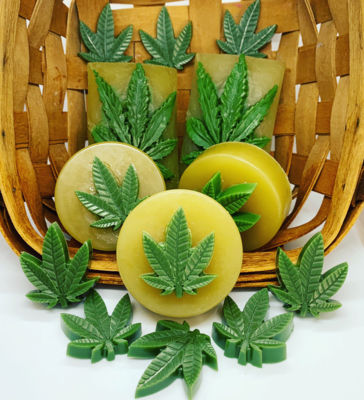 Soap ~ Hemp CBD 150 Mg Soap, Two 1.5 Ounce Round Bars, Total Weight 3 Oz.