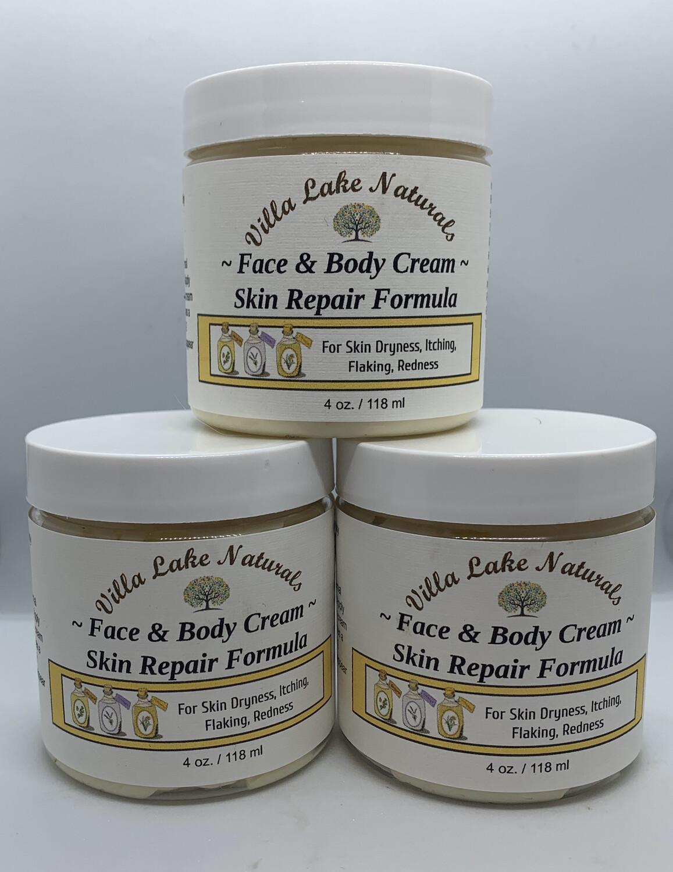 Face & Body Cream ~ Skin Repair Formula - 4 oz.