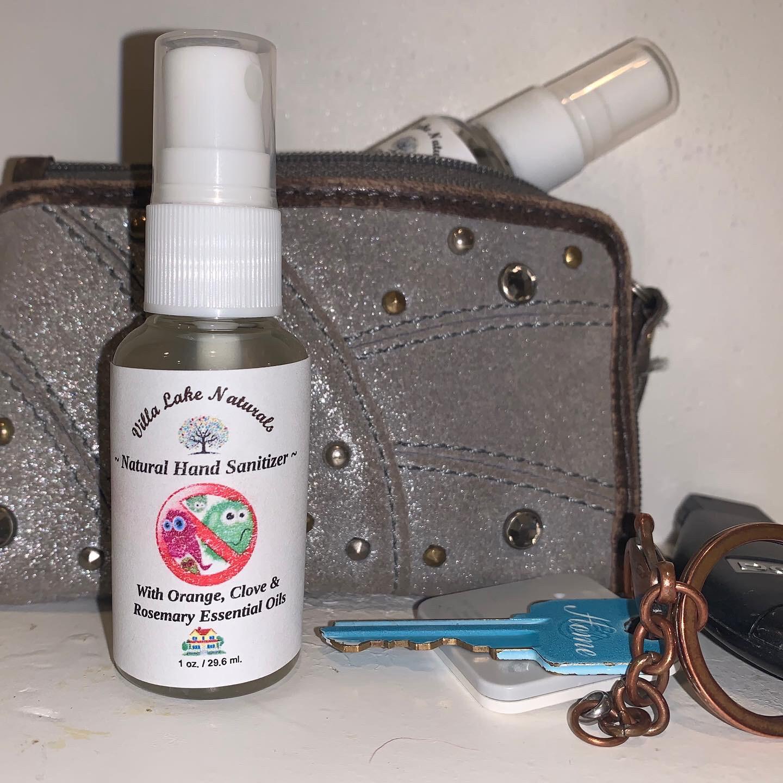 Natural Home - Hand Sanitizer Spray - 4 oz. Glass Bottle