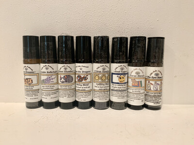 Rollerball ~ Choose from a Variety of Blends to Aid Sleep, Reduce Stress, Soothe Muscles & Joints, etc.  - 10 ml.