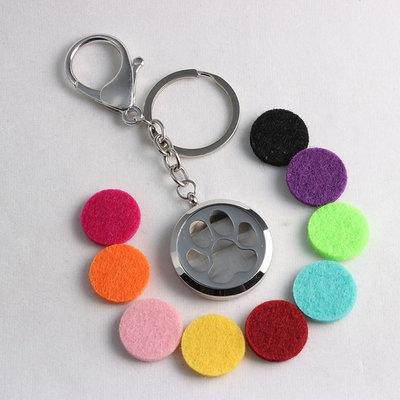 Jewelry ~ Aromatherapy Keychain - Paw Print