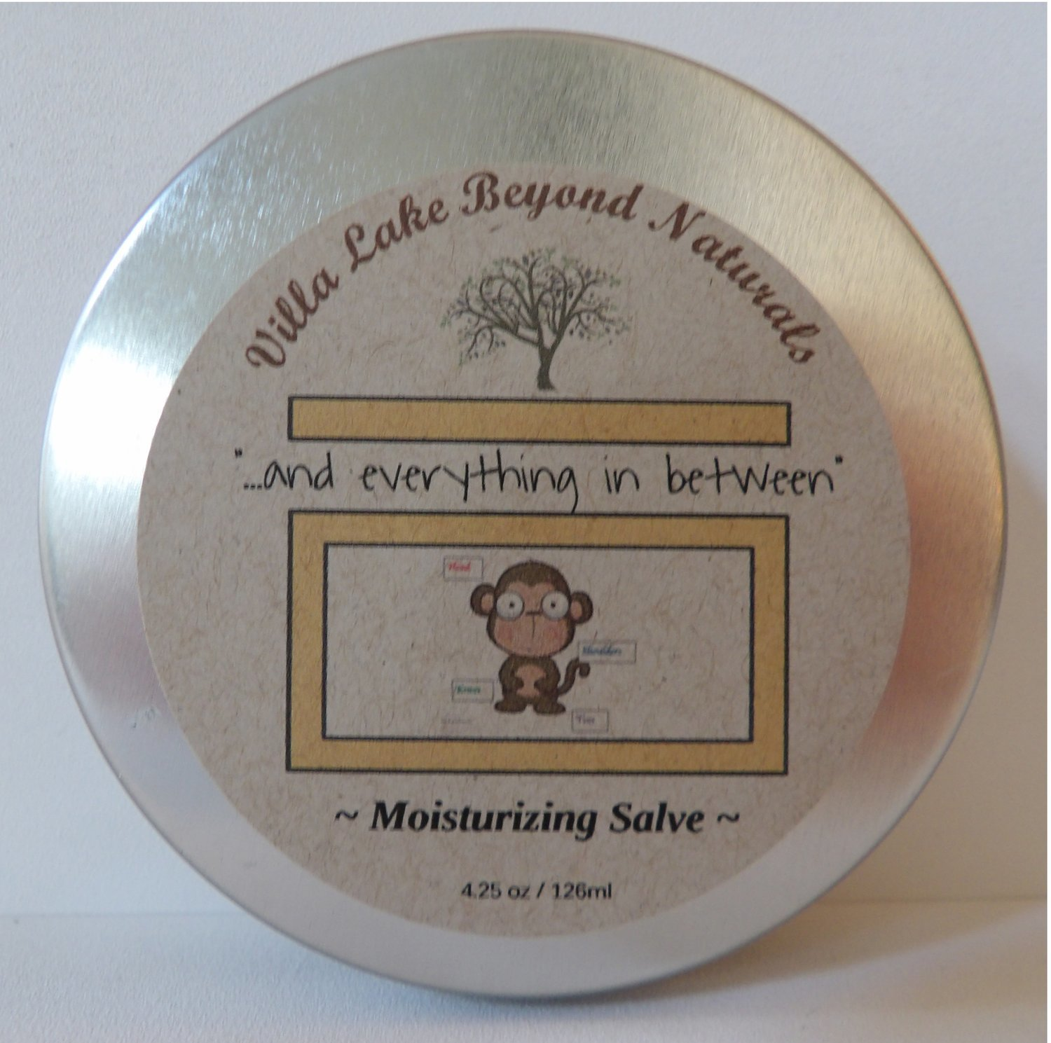 """Salve ~ """"and everything in between"""" Head to Toe Salve ~ with Lavender & Chamomile (or) Helichrysum & Frankincense Essential Oils - 4.25 oz."""
