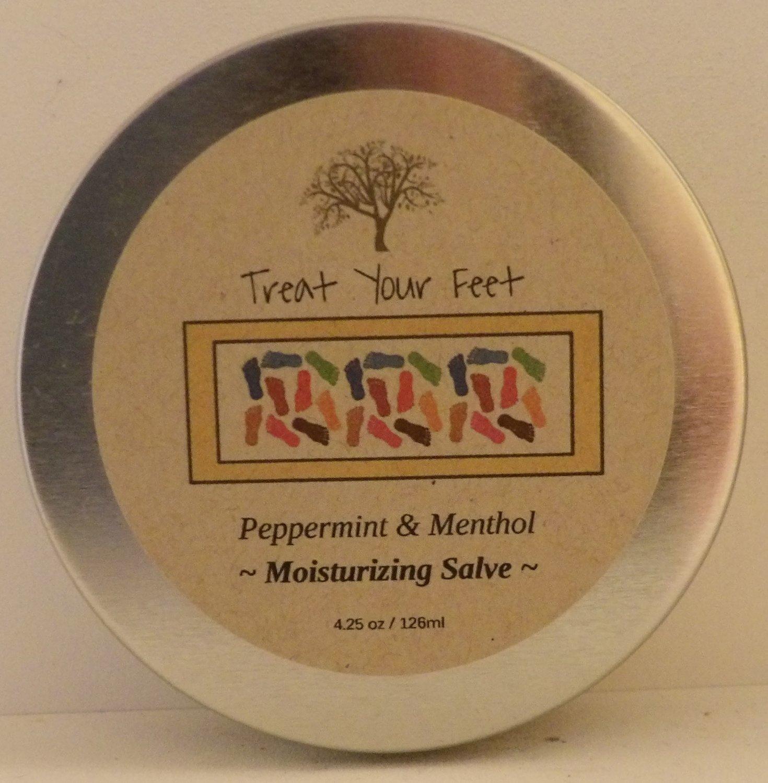 Treat Your Feet! ~ Invigorating Foot Salve ~ Peppermint & Menthol  4.25 oz.