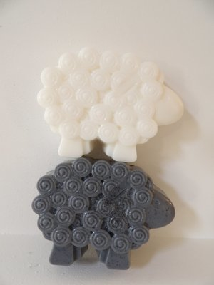Soap ~ Baa Baa Sheep Soap (single bar - Choose black or white) or set of 2 - each bar 3.5 oz.