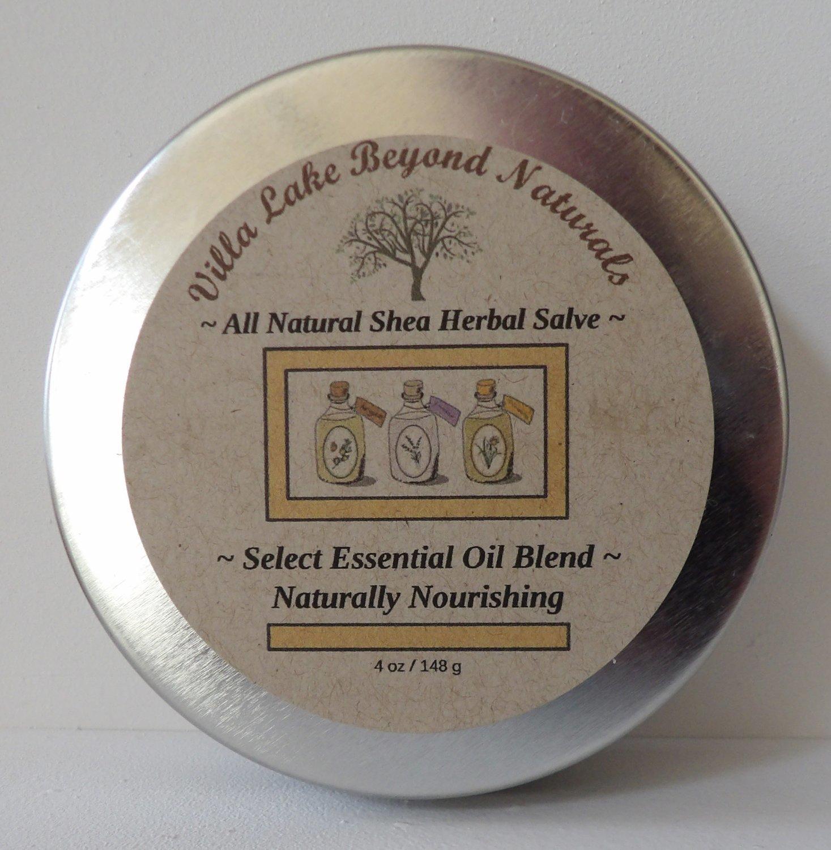Salve ~ Natural Shea Herbal Salve  4.25 oz.
