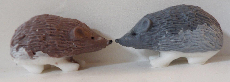 "Soap ~ Herbal Spice 3D Hedgehog ""Bar"" Soap - Select Grey or Brown"