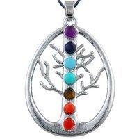Jewelry/Pendant ~ 7 Chakras Tree of Life Healing Pendant - Oval