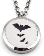 Jewelry/Pendant ~ Aromatherapy Pendant - Halloween Bats w/Chain