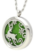 Jewelry/Pendant ~ Aromatherapy Pendant - Holiday Deer