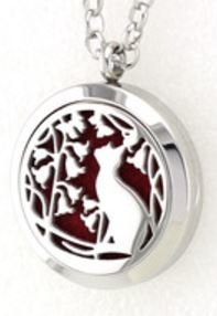 Jewelry/Pendant ~ Aromatherapy Pendant - Cat with Chain